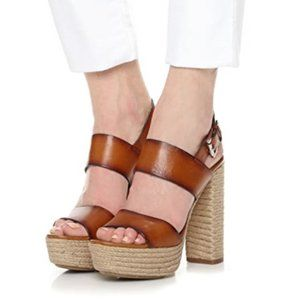 Mchael Kors Collection leather platform espadrille